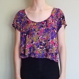 Colorful Patterned Crop Top Nordstroms size XS